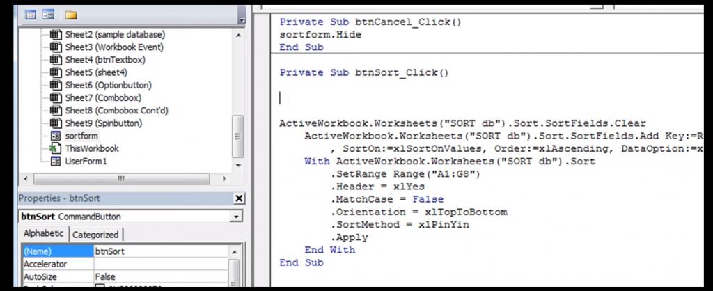 Code insert