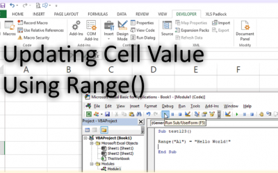 Changing A Cell's Value In Excel VBA (Range Object Method)