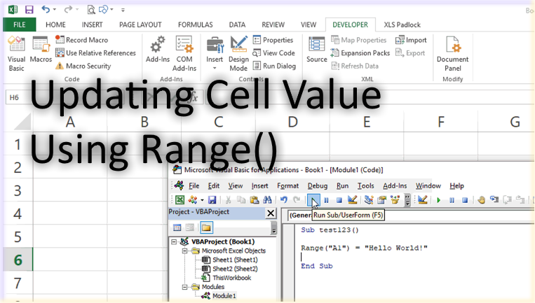 Changing A Cell's Value In Excel VBA (Range Object Method
