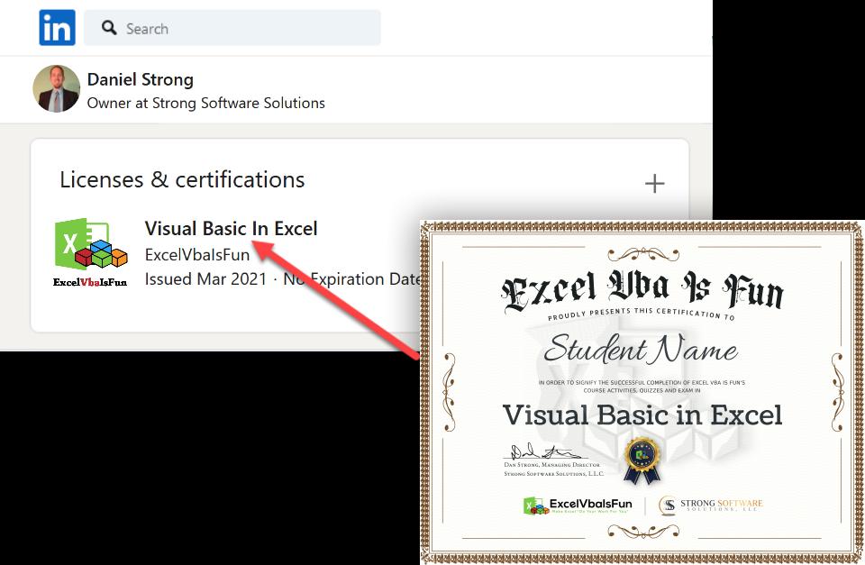 LinkedIn Certificate
